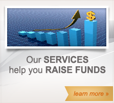 Our services help you raise funds